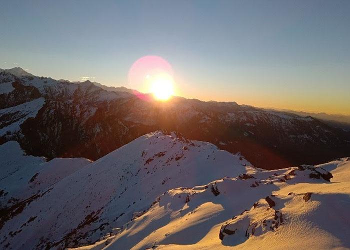 KedarKantha sun rise