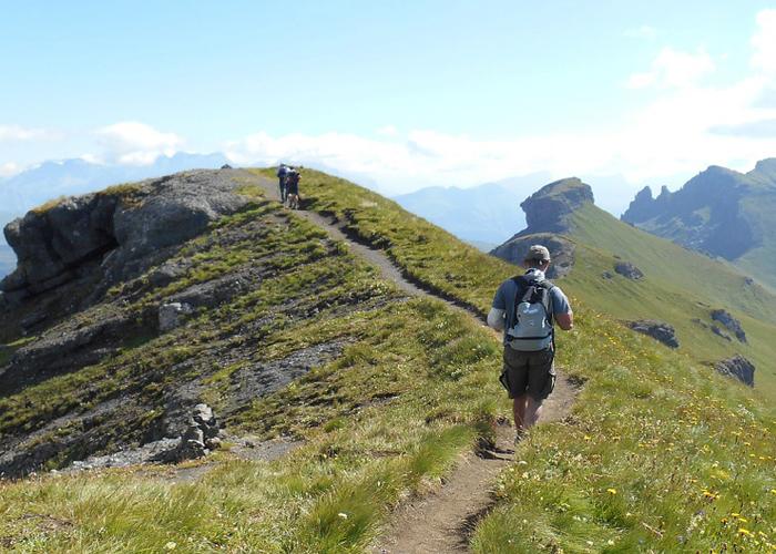 Man hiking on Phulara Ridge Trek