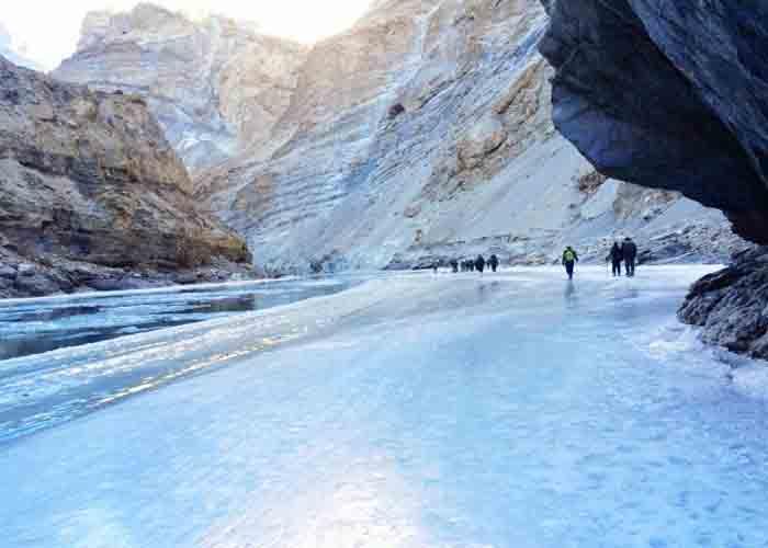 Chandra Trek Frozen River