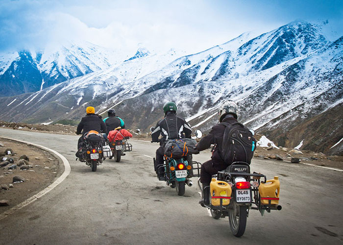 Bikers on the way to Leh Ladakh Road Trip