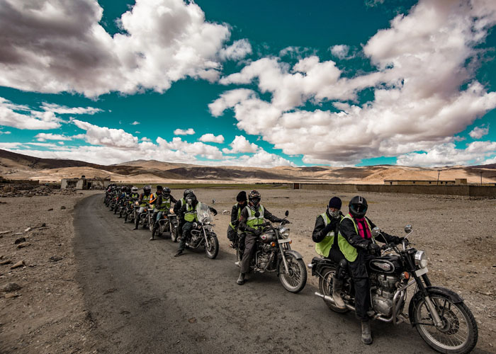 Bikes Getting Ready to Leave Leh