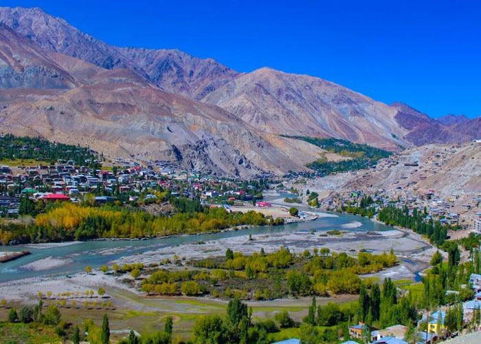 Beautiful view of Ladakh in Summers