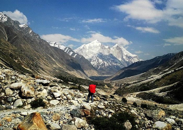 View of Gangotri Glacier